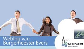 Weblog burgemeester Evers