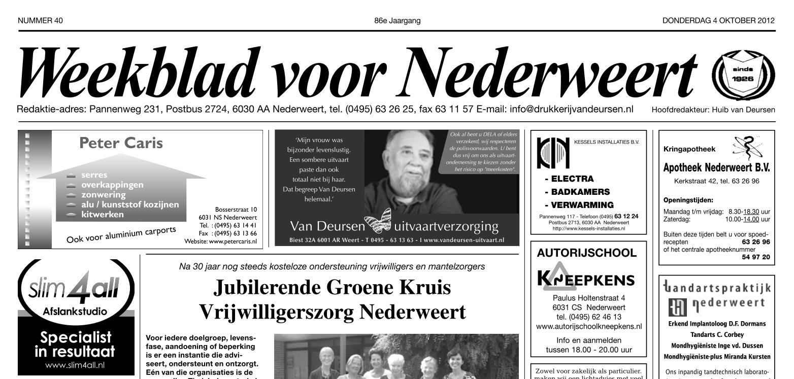 Weekblad voor Nederweert van 04-10-2012