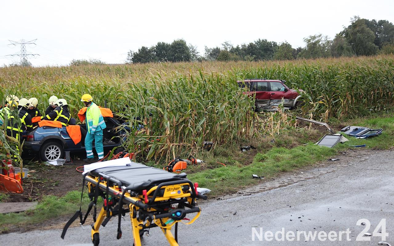 Ongeval met beknelling op Houbenbaan in Nederweert