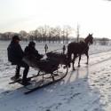 Arren door de sneeuw