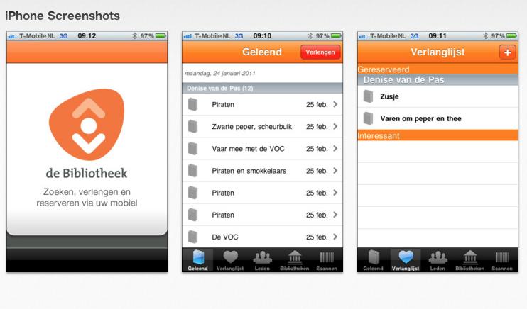 De Bibliotheek App iPhone Android