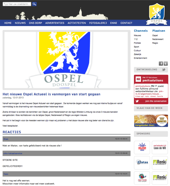 Ospel-Actueel website ospel