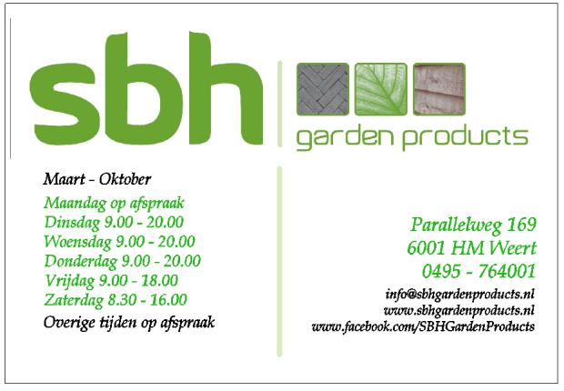 SBH Garden Products Openingstijden