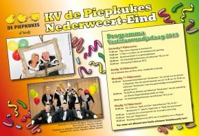 Vastelaovundjsprogramma K.V. de Piepkukes en de Krielkes