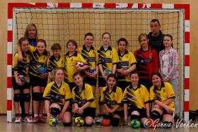 Kampioenswedstrijd handbalsters C1 van Merefeldia
