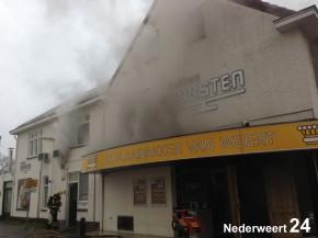 Grote brand bij bakkerij Korsten