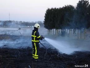 Kleine brand Meibergweg in Nederweert