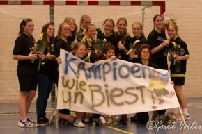 Dames DA1 van Handbal verengigin Merefeldia kampioen