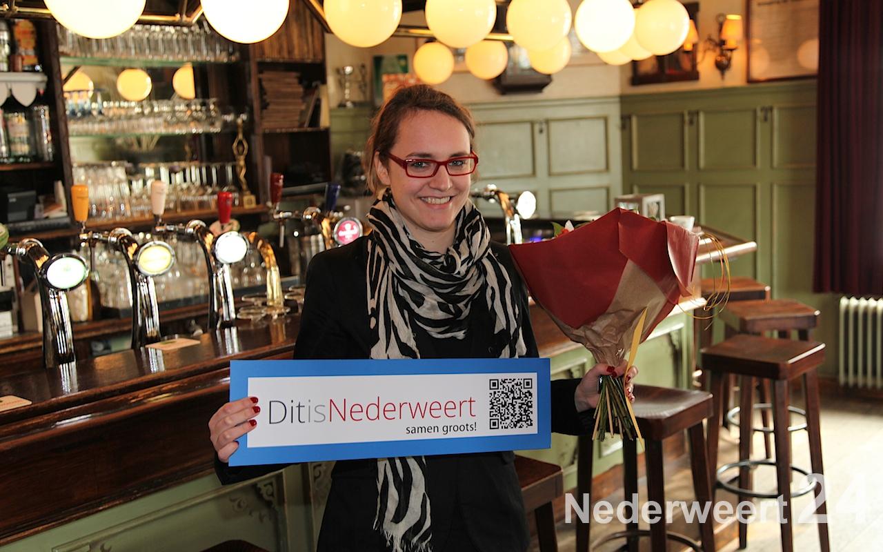 Loes winnaar dinercheque DitIsNederweert Facebook-actie