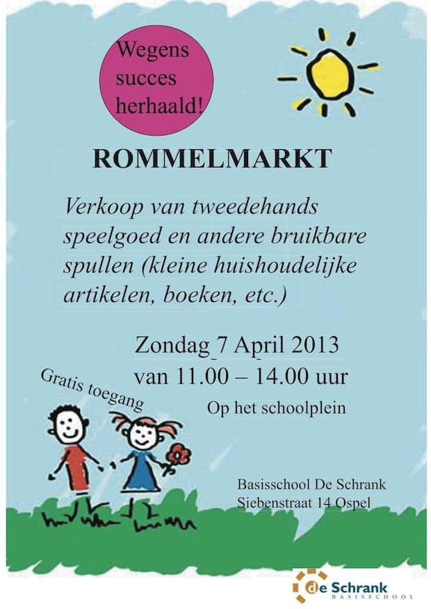 Kinderen verkopen op het schoolplein zelf hun speelgoed en allerlei andere spullen (boeken, huishoudelijke artikelen, etc.). Ook is er de gelegenheid om een hapje te eten of iets te drinken