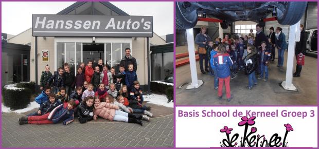 Basisschool De kerneel bezoekt Hanssen Auto