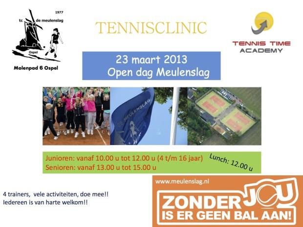 Open dag / Tennisclinic TC de Meulenslag Ospel