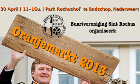 Oranjemarkt 2013 Buurtvereniging Sint Rochus
