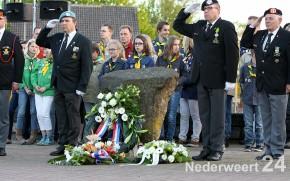 Dodenherdenking 4 mei 2013 Raadhuisplein Nederweert