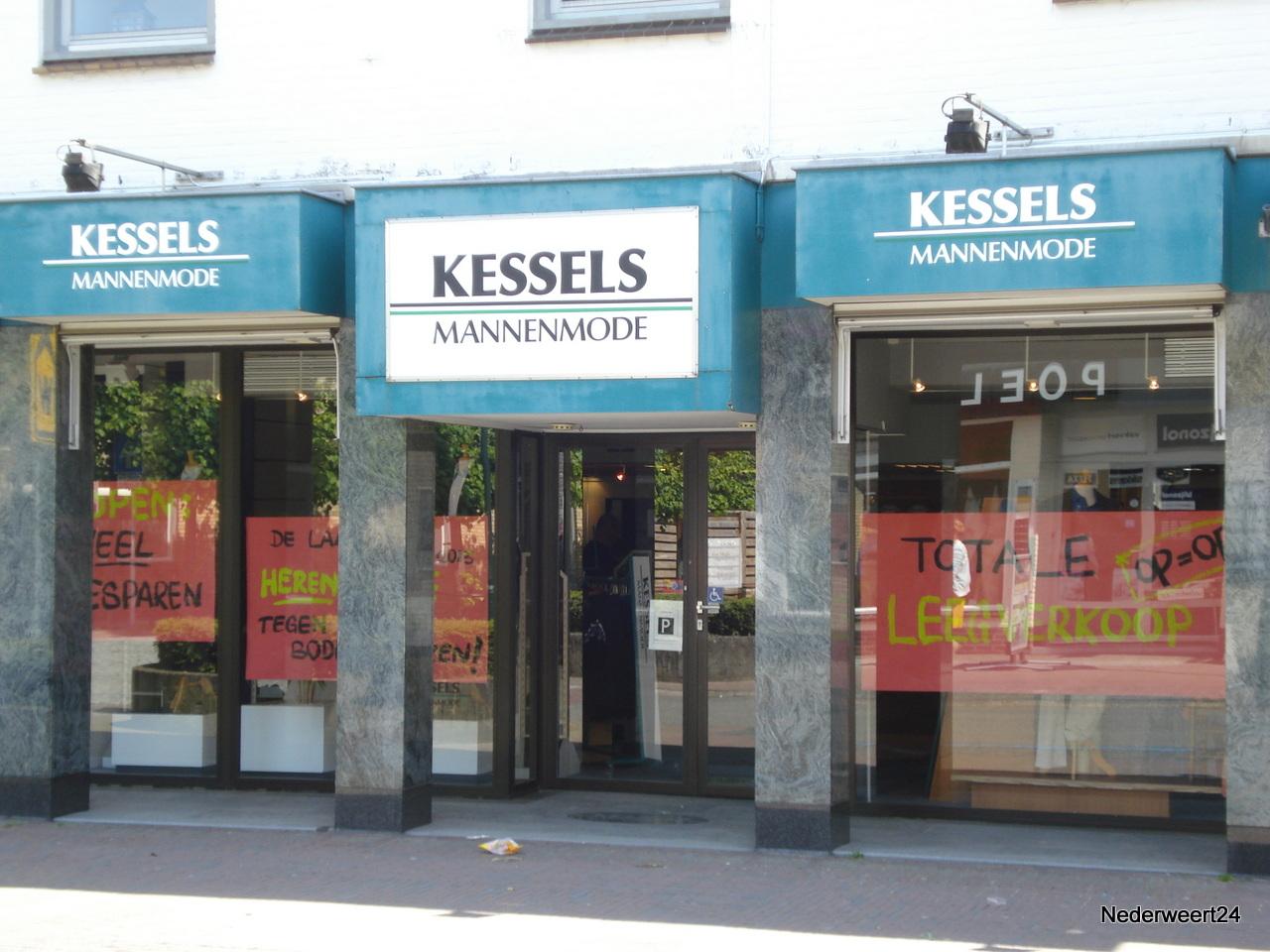 Mega uitverkoop bij Kessels Mannenmode in Nederweert