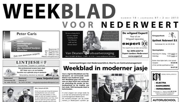 Weekblad week 18