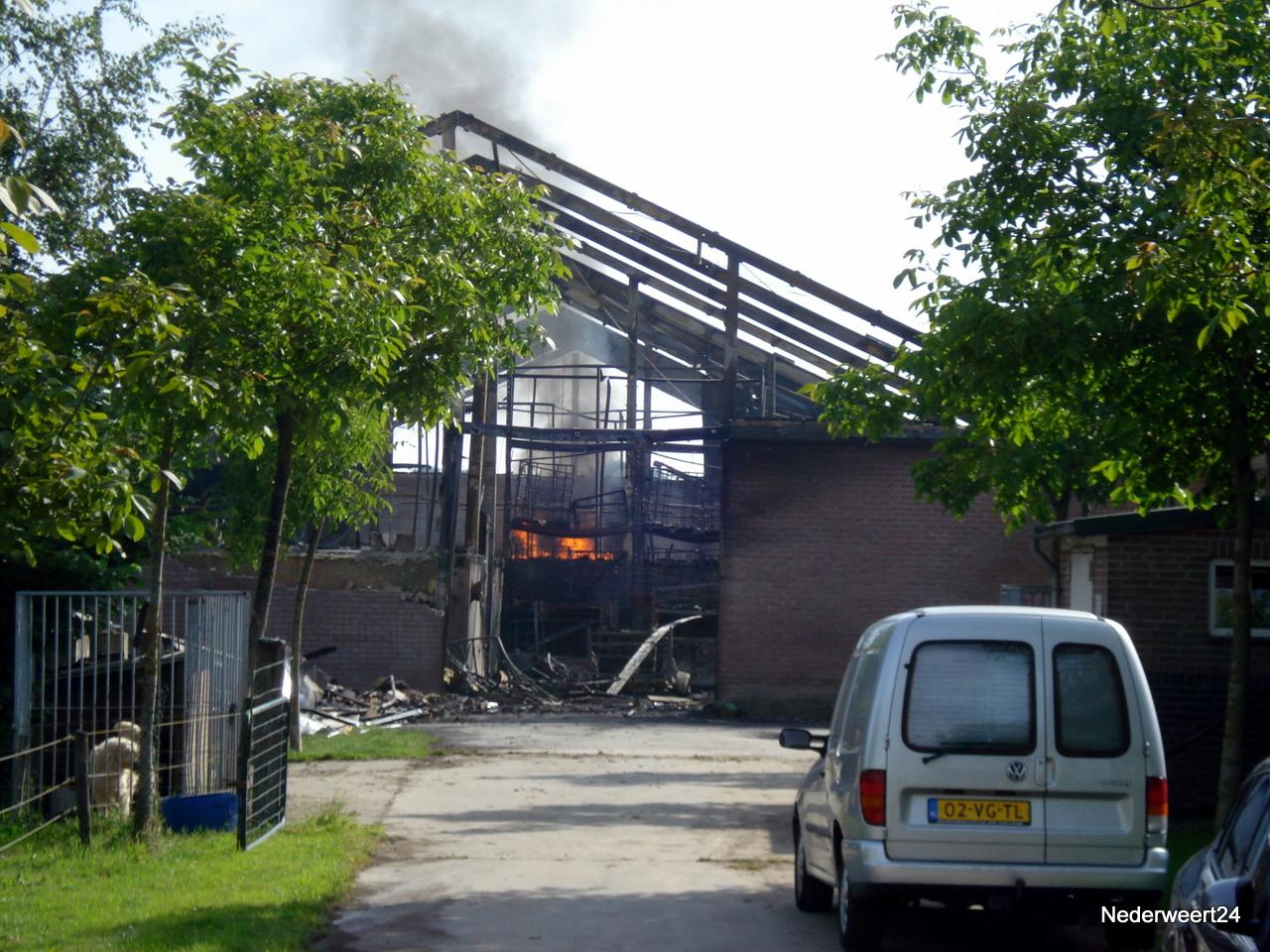 Brand in Ospel weer opgelaaid