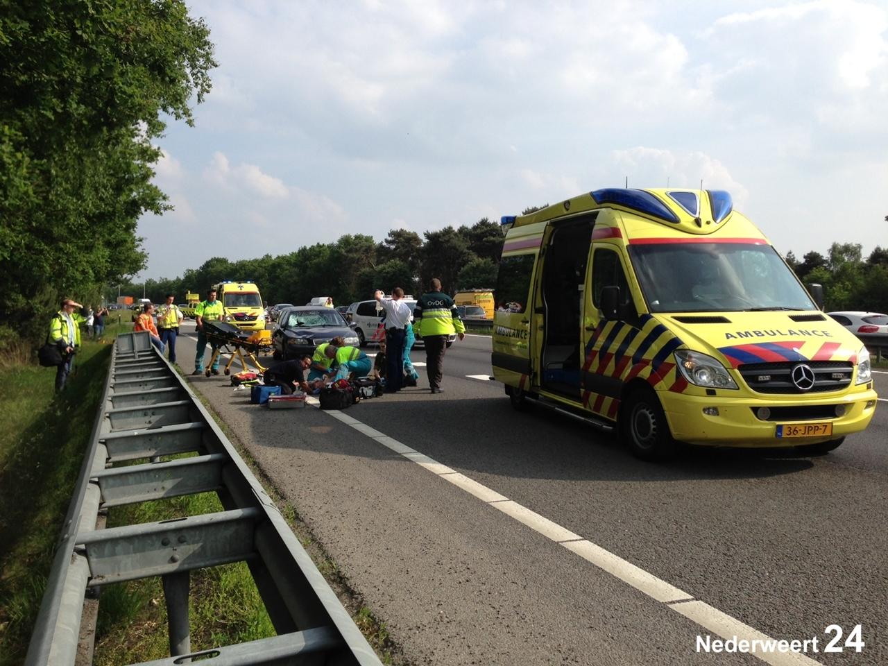 Ongeval A2 Weert Noord
