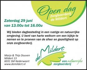 open dag bij zorgboerderij De Mildert