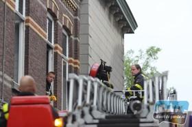 Brand bij de oude markt in Weert