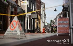 Gaslek ontdekt aan de Hoogstraat in de binnenstad van Weert