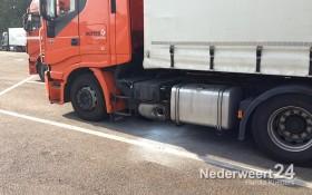 Vrachtwagenbrandje Parkeerplaats Meiberg A2 Nederweert