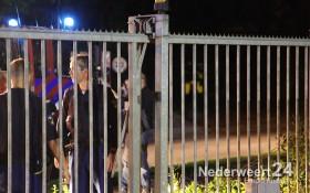 2013-08-09 Man bekneld tussen elektrische rolpoort Weert 088