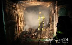 Grote brand in container bij de Toerist aan de Maaseikerweg te Weert