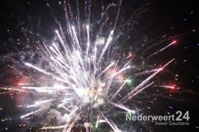 Vuurwerk tijdens opening Brug 15 en Kermis Nederweert