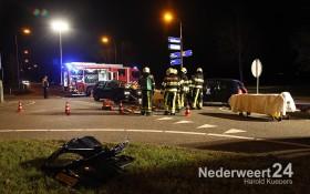 Ongeval twee personenauto's frontaal op alkaar op Walk Heuythuysen