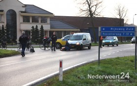Ongeval fietser met auto op de Pannenweg Nederweert