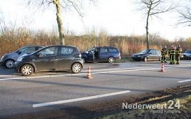 Ongeval Ringbaan Zuid Weert met vier personen auto's