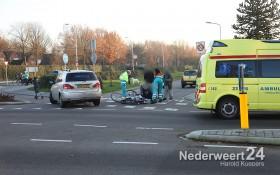 Ongeval fietser met auto op de Overweertstraat Thornstraat Weert