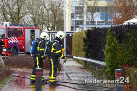 Vuurwerk brandje Van Halenstraat Weert