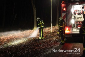 Bermbrandje door vuurwerk Diesterbaan Weert