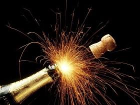 Vuurwerk champagne