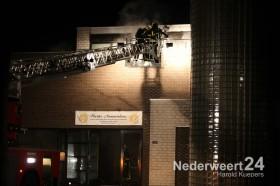 Brand Molenakkerplein in buurtcentrum Weert
