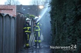 Brand Frederik Hendrikstraat Weert, coniferenhaag