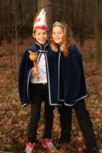 Prins Jasper en prinses Fleur van basisschool de Bongerd