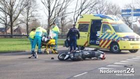 4motorijder gewond na aanrijding brugske nederweert