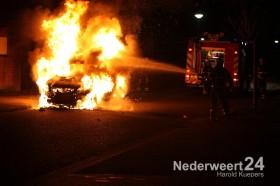 Autobrand Julianastraat Nederweert