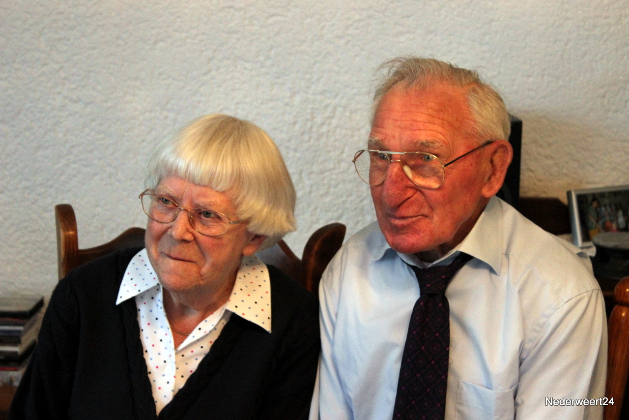 Echtpaar Charel en Zus Ritzen-van Leuven 60 jaar getrouwd