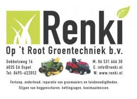 Logo Renki met grasmaaiers