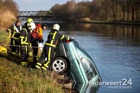 auto te water kanaal Wessem-Nederweert 6
