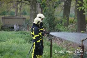 Donderdagavond was er een klein mini brandje op de Winnerstraat in Nederweert.