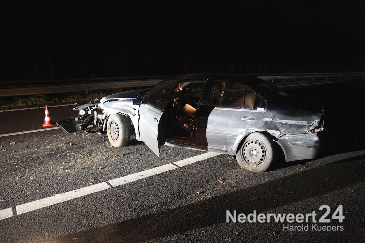 Eenzijdig ongeval A2 (Foto's)
