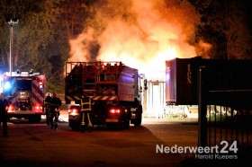 Grote brand woonwagenkamp Eindhovenseweg Weert