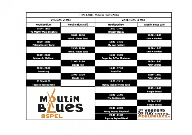timetable Moulin Blues_2014