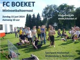 FC Boeket minitoernooi