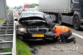 Ongeval A2 bij Nederweert met drie auto's